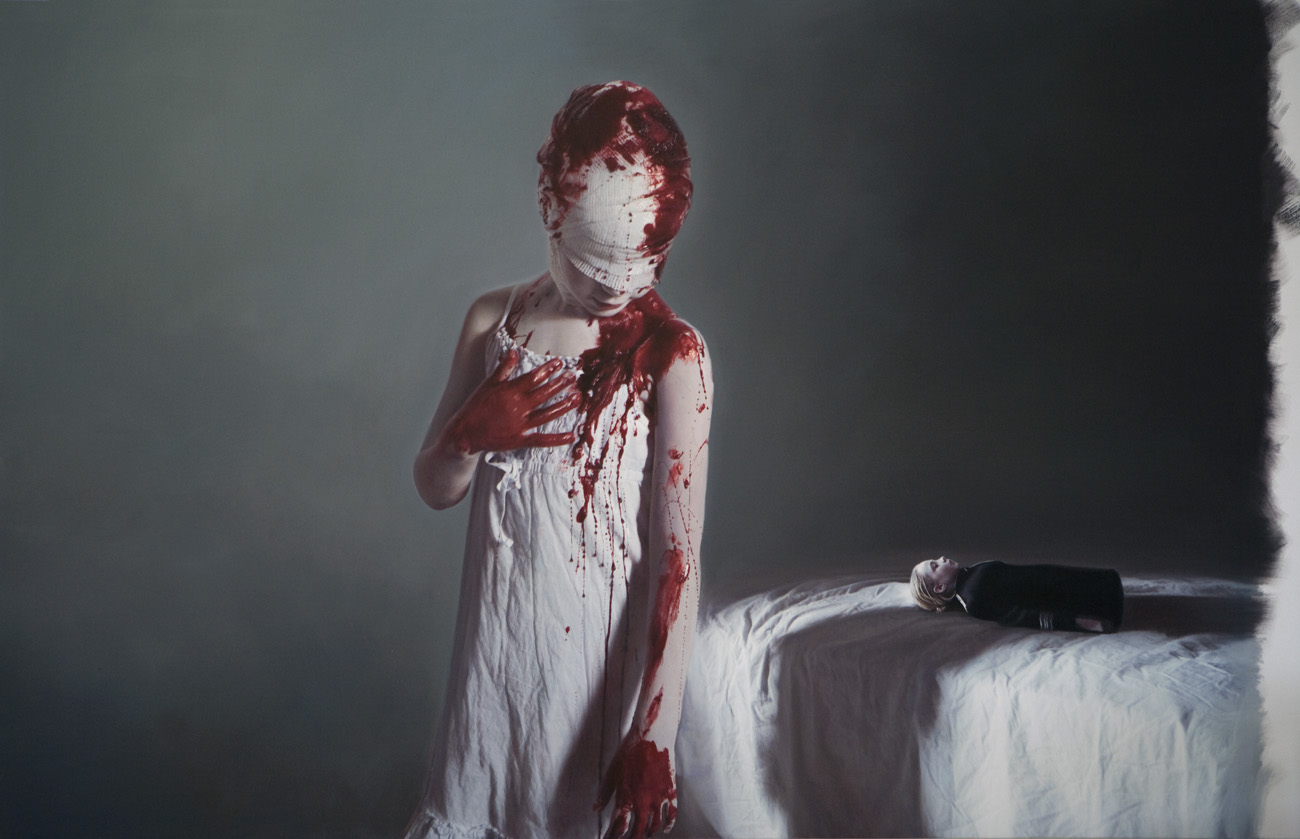 Gottfried Helnwein: The Disasters of War 3, 2007, 200 cm x 293 cm, mixed media (oil and acrylic on canvas). In Memory of Francisco de Goya